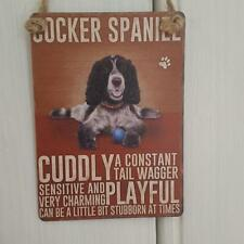 COCKER SPANIEL  DOG MINI METAL CHIC N SHABBY VINTAGE RETRO SIGN