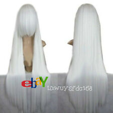 Inuyasha New Fashion Long White Straight Cosplay Wig + Free wig cap NO:228