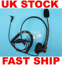 Over-head earpiece/headset Micrófono Para Topcom Radio twintalker 9500 9200 9210 7100