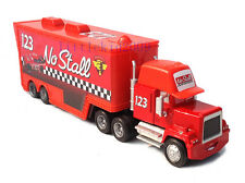 Disney Pixar Cars No.123 No Stall Race Team's Hauler Truck Kid Toy Loose