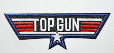 TOP GUN US NAVY FIGHTER PILOT TRAINING AIRFORCE SOW IRON ON PATCH SEW BADGE