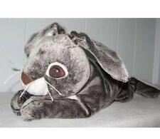 Ikea Vandrig Bunny Rabbit Hare Plush Stuffed Animal Grey Brown White Large Feet