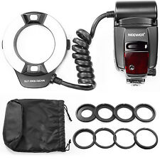 Neewer Macro TTL Ring Flash Light with AF Assist Lamp for Nikon I-TTL Cameras