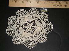 Wholesale LOT 12 Butterfly Pattern ECRU CLUNY LACE 6 inch DOILIES Free US Ship