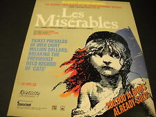 LES MISERABLES Hyped Up 1987 PROMO DISPLAY AD in mint condition