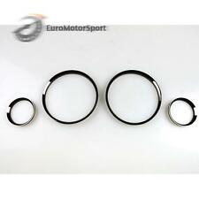 * For BMW E30 Black Chrome Cluster Dashboard Dial Gauge Rings M3 EVO 1982-1994