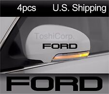 4 FORD Sticker Decals Wheels Door handle Mirror Mustang Racing Sport BLACK