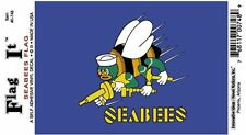Seabees Flag - Vinyl Decal Sticker 3.5''x 5''