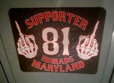 HELLS ANGELS SUPPORT MARYLAND 81 NOMADS mouse pad SKULL MIDDLE FINGER