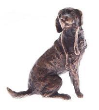 Butler & Peach Piccolo bronzo solido Dettagliata Cane Labrador