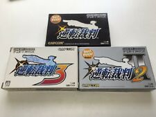 Nintendo Game boy Advance Gameboy Gyakuten Saiban 1 2 3 set Japan JP. Z13