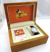 "MICKEY MOUSE,Citizen,""Limited Timepiece""Big Maple Box,RARE MEN'S WATCH,R8-04,W@W"