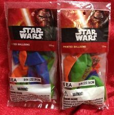 12 Disney Star Wars Balloons Yoda & Darth Vader Birthday Party Latex 3 Colors