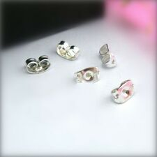 100PC DIY Silver Plated  BACK STOPPERS Earrings Jewelry Findings For Stud Pin