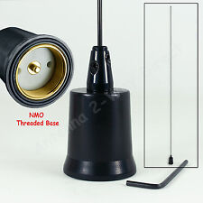 VHF 5/8 WAVE 144-174 MHZ 2 METER BASE-LOADED NMO MOBILE ANTENNA ALL BLACK