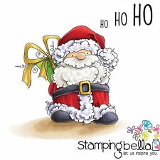 CHRISTMAS SANTA PREZ Cling-style Unmounted Rubber Stamps STAMPINGBELLA New EB432