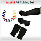 Martial Art Set Shin Instep Karate Mitt Mouth guard Size Kids, Junior, Senior