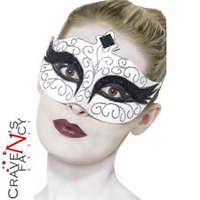 Black Swan Eyemask Gothic Halloween Masquerade Mask Womens Ladies Fancy Dress
