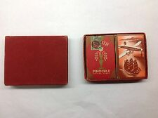 Double Deck Of Zenith Pinochle Playing Cards 1946 Vintage Russell Cards Linen