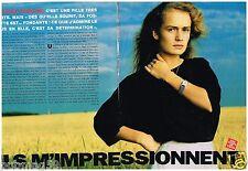 Coupure de presse Clipping 1989 (3 pages) Sandrine Bonnaire