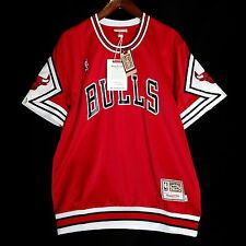 100% Authentic Bulls Mitchell & Ness Bulls Shooting Shirt Size 44 L - jordan