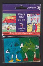 Sydney 2000 Olympics Fridge Magnet - Share the Spirit - Pottsville - Genuine NEW