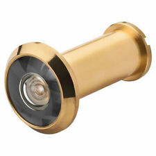"""Peek Hole Security Door Viewer 180° Polished Brass Fits 1-3/8"""" to 2-1/4"""" thick"""