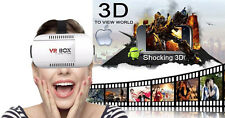 VR Headset Virtual Reality VR BOX Goggles 3D Glass Google Cardboard 2nd Gen NEW
