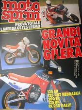 Motosprint 47 1986 Prova Laverda GS 125 Lesmo. Novità Gilera 125/200 ER [Q78]