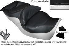 WHITE & BLACK CUSTOM FITS HONDA GOLDWING GL 1500 88-00 DUAL LEATHER SEAT COVER