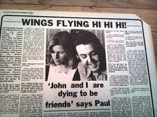 PAUL McCARTNEY & Wings Hi Hi Hi review 1972 UK ARTICLE / clipping