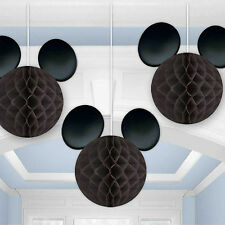 3 Mickey Mouse Club House Children's Party Hanging Honeycomb Decorations