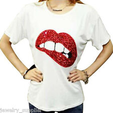 Sexy Lips Embroidered Patch Sticker Iron-On Sew Cloth Paste Applique Hot Sale