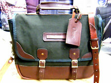 VINTAGE GOKEY JW HULME  CANVAS LEATHER BRIEFCASE BAG carry on USA