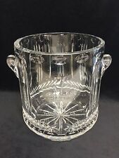 Cleveland Golf Father/Son Pebble Beach Sterling Cut Glass Crystal Ice Bucket
