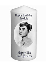 Cellini Candles Audrey Hepburn Birthday Own Message Personalised Gift Card #4