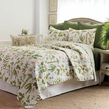 Anessa Botanical Cotton King Size Quilt Traditional Quilted Bedspread Comforter