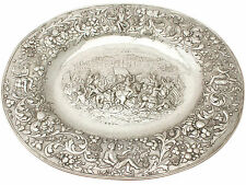 Tedesco Argento Sterling CARICABATTERIE PIASTRA-Antico 1886
