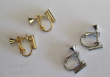 Earring Converters Pierced to Screw On Back 2 Pair Silver and Gold