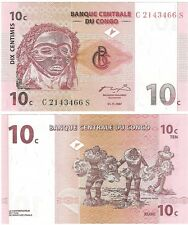Congo 10 Centimes 1997 P-82 UNC Uncirculated Banknote + FREE NOTE