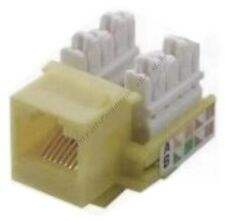 Lot25 Cat5e RJ45 Keystone Network/Ethernet 10/100/1000 Jack 110Punch{IVORY/BEIGE