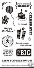 FISKARS Clear Stamps HAPPY BIRTHDAY Wish Cake Gift  º?º