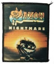 SAXON NIGHTMARE vintage  sew on photo  patch