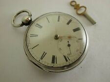 Antique 1894 Hallmarked Solid Silver Heavy Key Wind Pocket Watch [S3313]