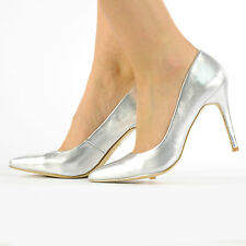 NEW WOMEN POINTED COURT SHOES STILETTO HIGH HEELS SIZE 3-8 LADIES CASUAL SHOES