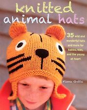 Knitted Animal Hats Fiona Goble Pig,Chick,Bear,Tiger,Fox,Zebra,Octopus & More