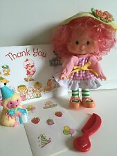 Vintage Strawberry Shortcake: Peach Blush Doll (Party Pleaser) Lamb, Comb, Card