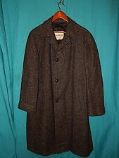 "Choice! VTG 50s-60s HARRIS TWEED TOP COAT, ""THE SOVEREIGN""  Men's Sz M"