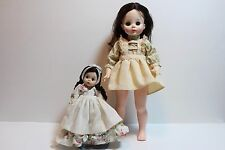 """Lot of 2 Madame Alexander Dolls 13"""" Mary Ann doll. #1591 & 8-in Argentine #571"""