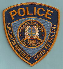 BURLINGTON NORTHERN SANTA FE RAILROAD POLICE PATCH
